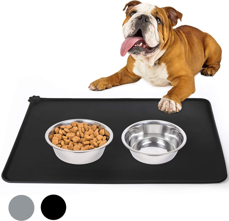 PrimePets Dog Food mat (Black Dog Food Mat)