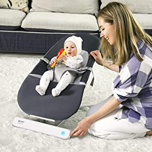 RONBEI Baby Swing,Baby Bouncers for Infants, Automatic Swing & Bouncers,Portable Swing for Infants/Baby Boy/Baby Girl