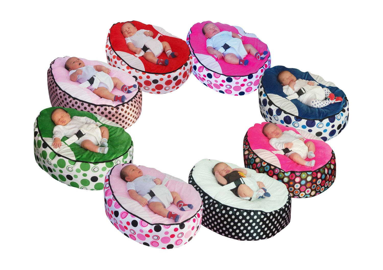 Baby bean bag snuggle bed bouncer with filling Mama Baba