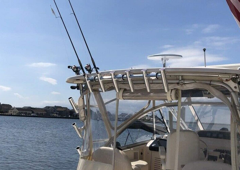 Brocraft Boat Hardtop Rod Rack//Boat T-TOP Rod Rack//Boat Rocket Launcher