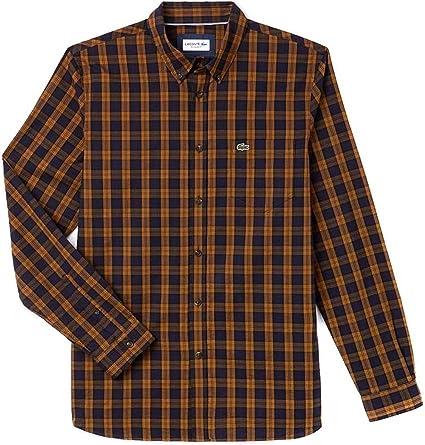 Lacoste Camisa CH0461 Tostado 38 Tostado: Amazon.es: Ropa y accesorios