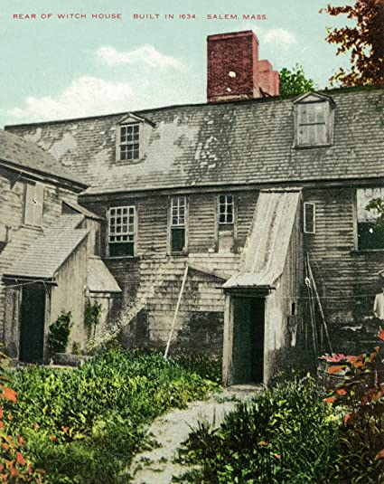 Amazon Com Salem Massachusetts Rear View Of Witch House 9x12