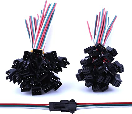 JST Plug Connector 2 Pairs Male Female Plug Connector Cable Wire Fresh for Lamp