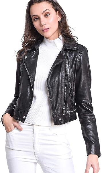 giacca donna biker pelle