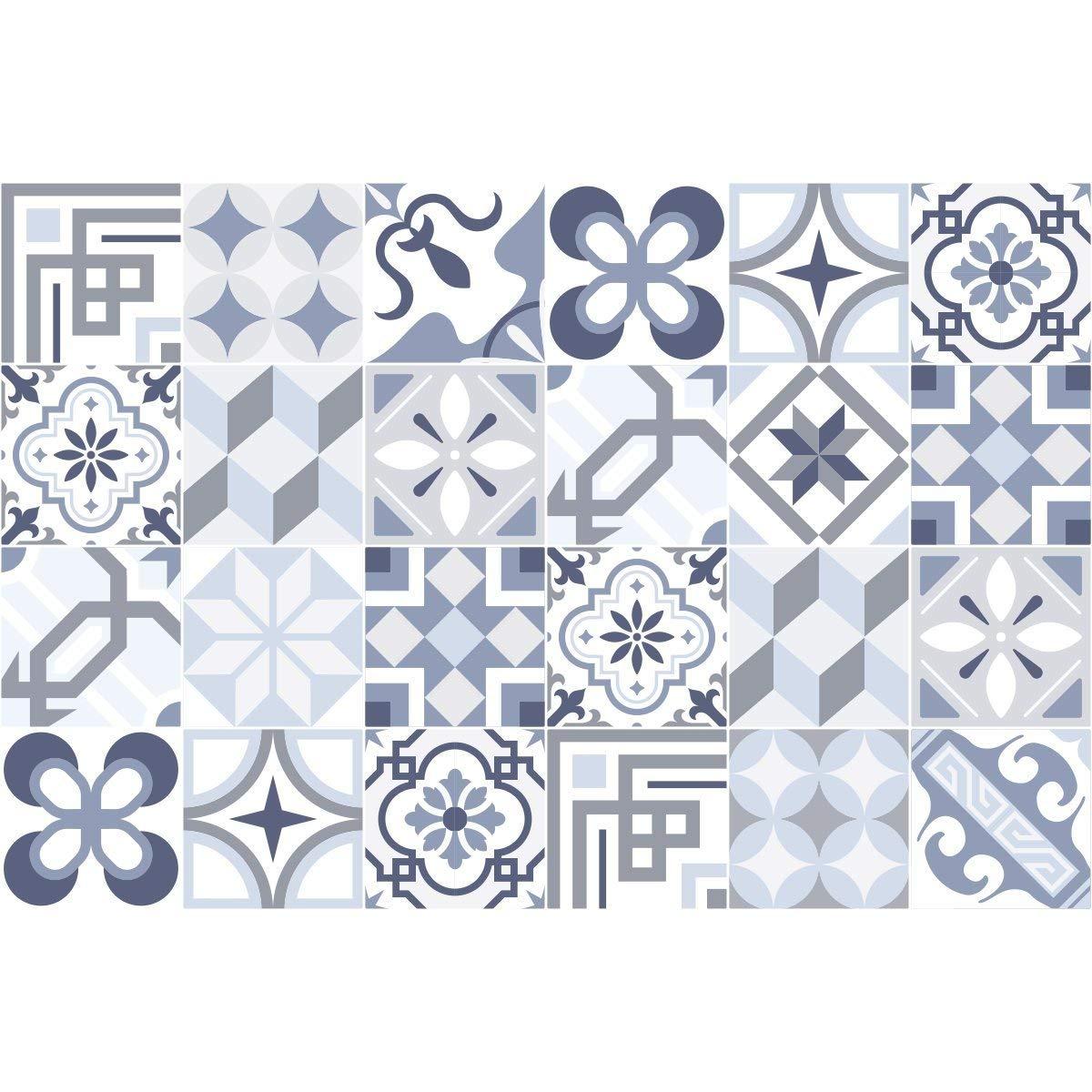 20/x 20/cm Ambiance-Live Piastrelle adesive per Parete,/Tipo azulejos,/Dimensioni Imitazione Cemento 24/Pezzi