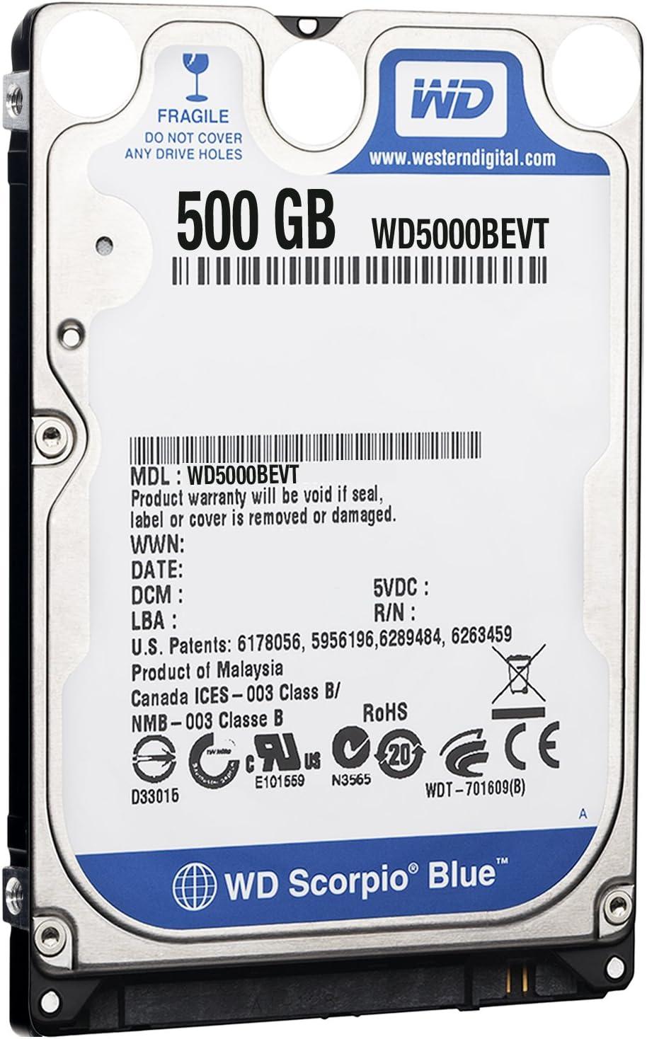 Western Digital 500 GB Scorpio Blue SATA Mobile Internal Hard Drive with 16 MB Cache