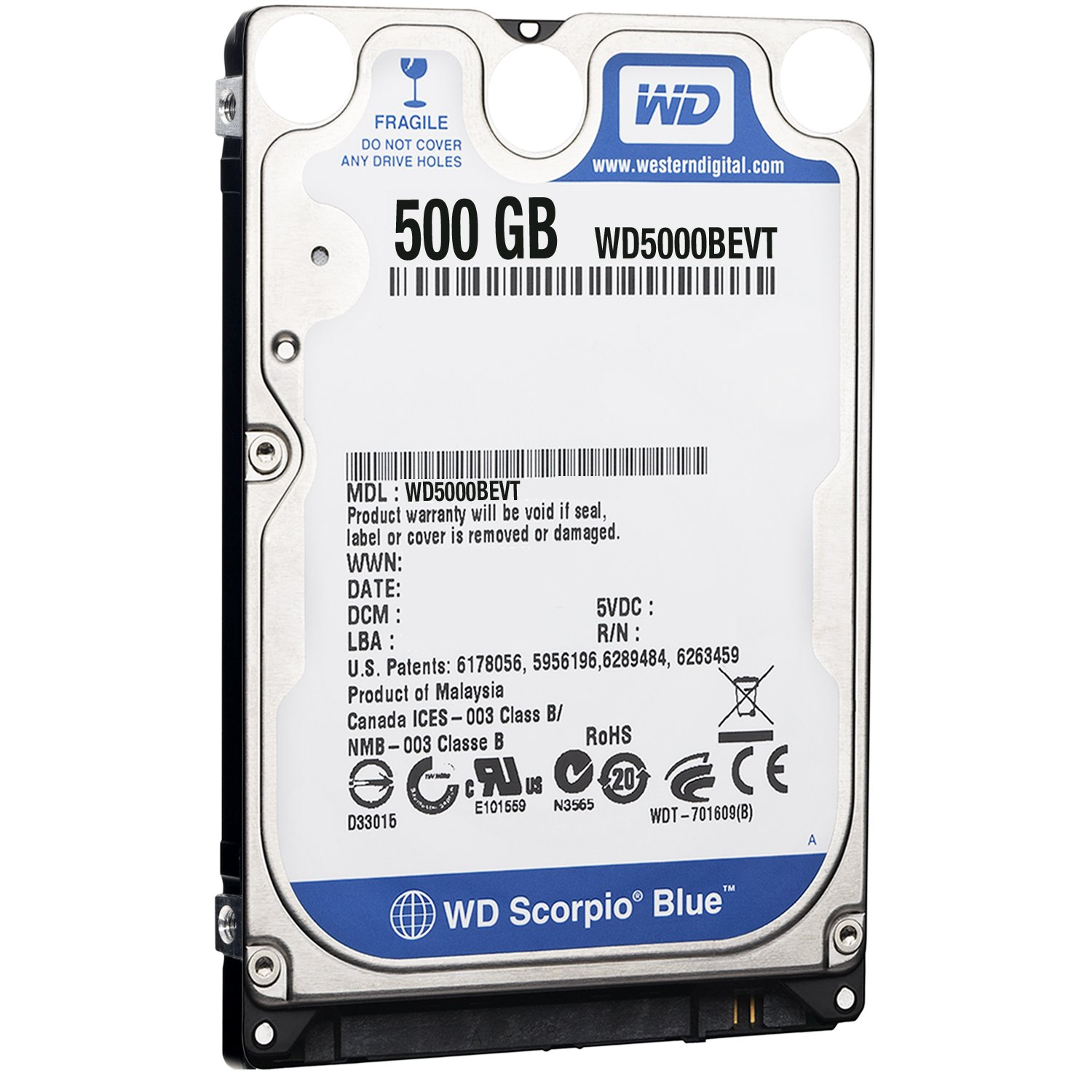 Western Digital Scorpio Blue 500gb Sata 8mb Cache 25 Inch Internal Hardisk Hard Drive Oem Sony Playstation Ps3 Compatible Computers Accessories