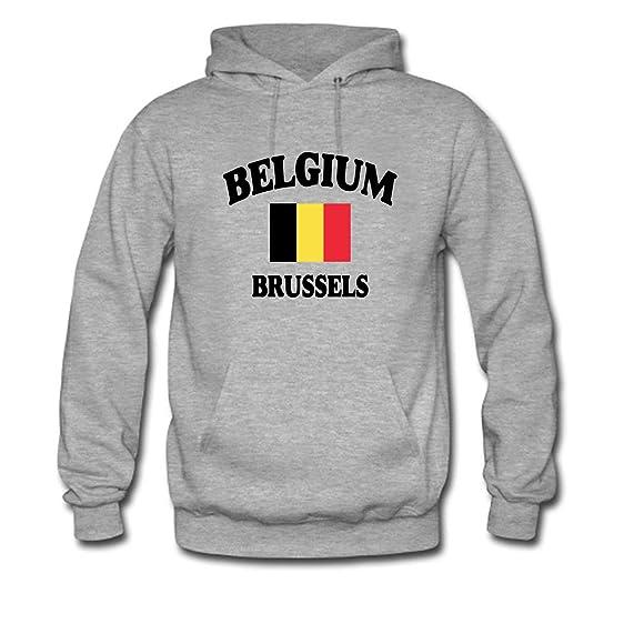 RUIJIE Womens Belgium of Brussels Hoodie Sweatshirt