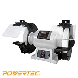 POWERTEC BGSS801 8-Inch Slow Speed Bench Grinder