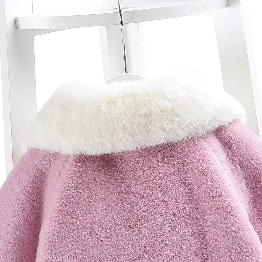 Dacawin Clearance Infant Girls Autumn Winter Long Sleeve Velvet Coat Cloak Thick Warm Clothes