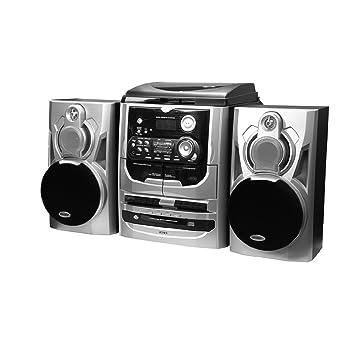 Amazon.com: Jensen estéreo de 3 velocidades Tocadiscos con 3 ...