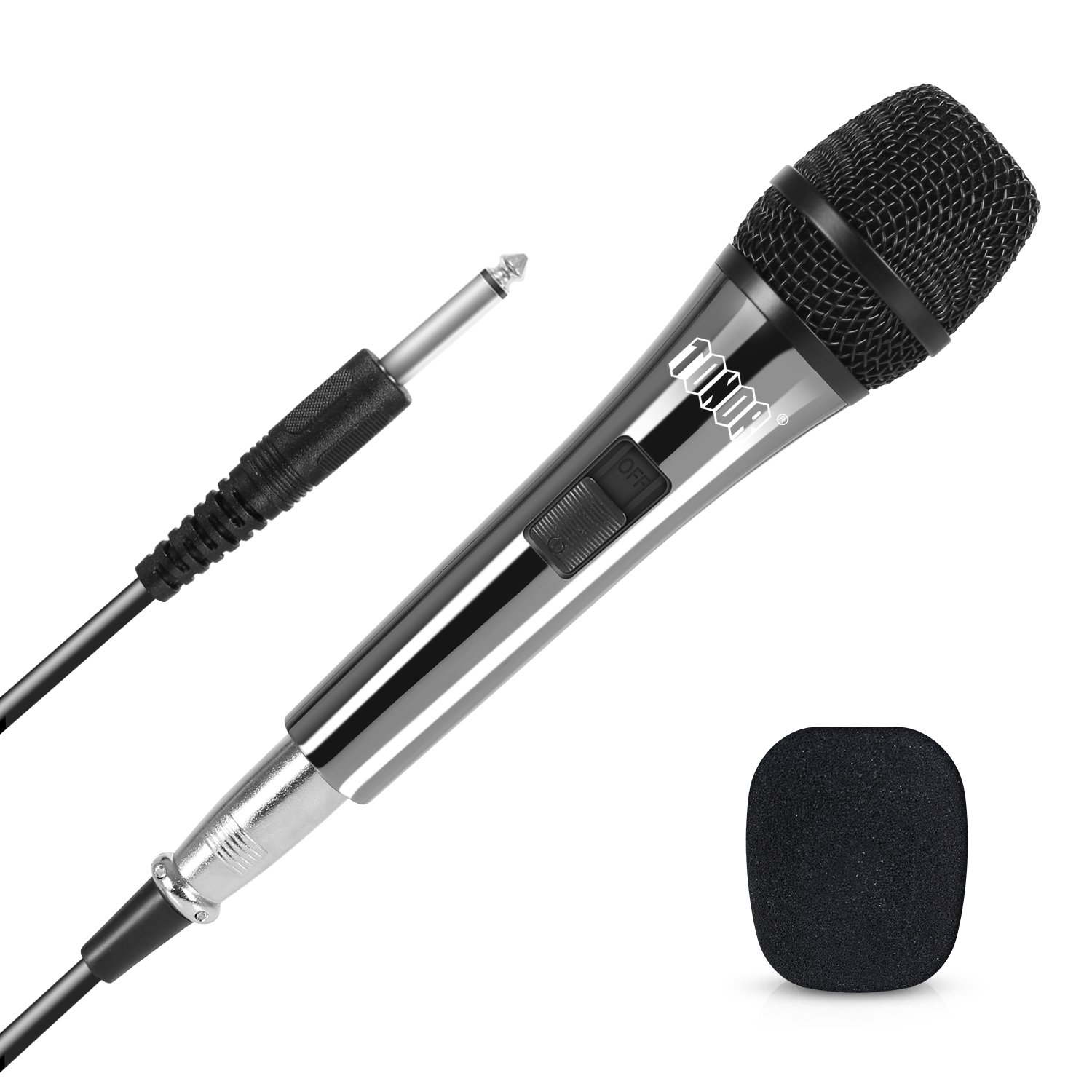 TONOR Wired Dynamic Microphone, Vocal Mic with 16.5ft XLR to 6.35mm 1/4