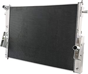 CoolingSky 4 Row All Aluminum Radiator for 2008-2010 Ford F250 /F350 /F450 Super Duty 6.4L Diesel Powerstroke Truck - Direct Replacement