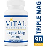 Vital Nutrients - Triple Mag 250 mg - Magnesium for Enhanced Absorption and Metabolism. Contains Magnesium Oxide, Malate and Glycinate - 90 Capsules