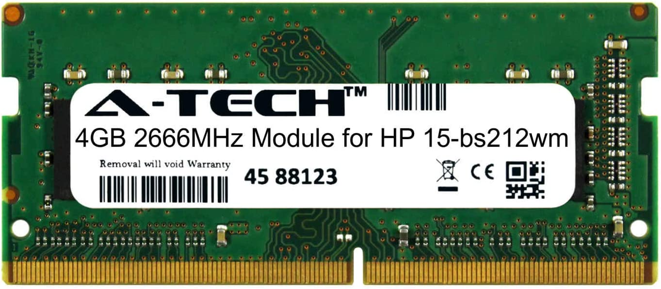 A-Tech 4GB Module for HP 15-bs212wm Laptop & Notebook Compatible DDR4 2666Mhz Memory Ram (ATMS380919A25977X1)