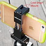 Metal Phone Tripod Mount with Hot Shoe Mount-Ulanzi Smartphone Holder Video Rig Tripod Mount Adapter - Black