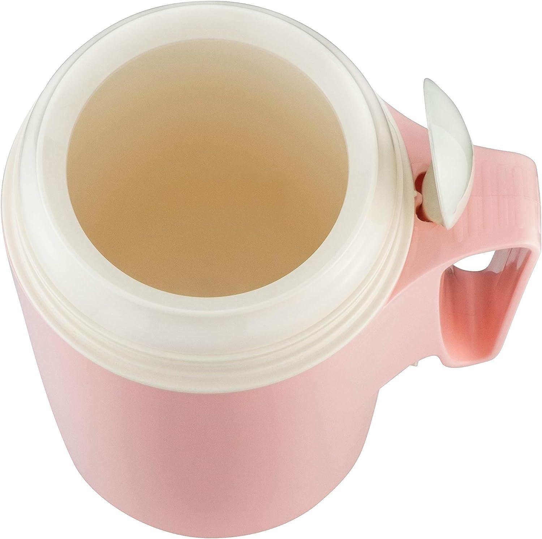 Isolier-Speisegef/äss 850-0,85 l outdoor sto/ß Warme Speisen einfach zum transportieren//Schraubverschluss und bruchsicher flamingo