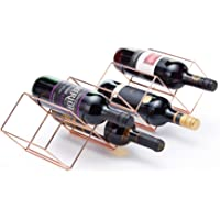 KitchenCraft BarCraft Stackable Free Standing Metal Copper Wine Rack, 58 x 14.5 cm, 7 Bottle Capacity