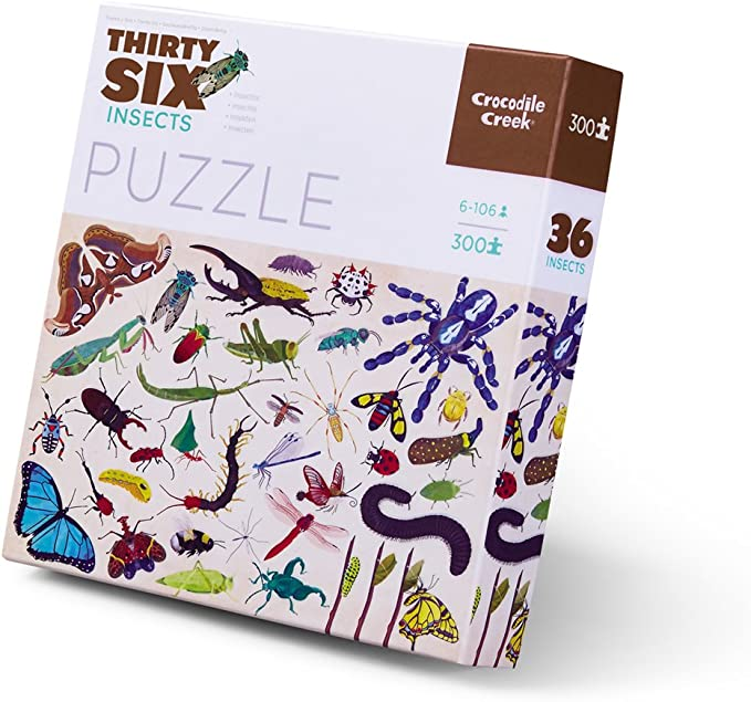 Crocodile Creek 4067-9 Thirty-Six Butterflies l 300 Piece Jigsaw Puzzle in Canister