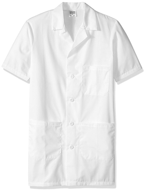 worklon 3409 poliéster/algodón Unisex manga corta farmacia bata de laboratorio con cierre de botón, talla XS), color blanco: Amazon.es: Amazon.es