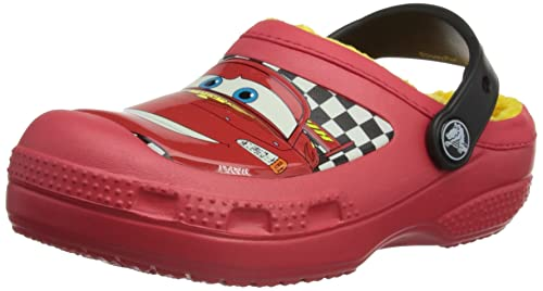 6a6085e28afcc crocs Boy s CC McQueen Lined Clog Red Rubber Clogs and Mules - C8C9 ...