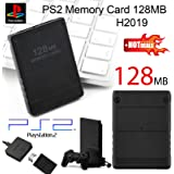 SODIAL(R) 128MB Memory Card for Sony PlayStation 2 PS2 128M Black