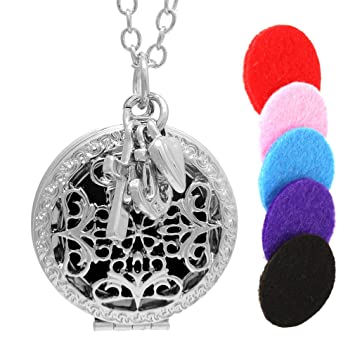 Amazoncom Essential Oil Diffuser Necklace With Love Hope Faith
