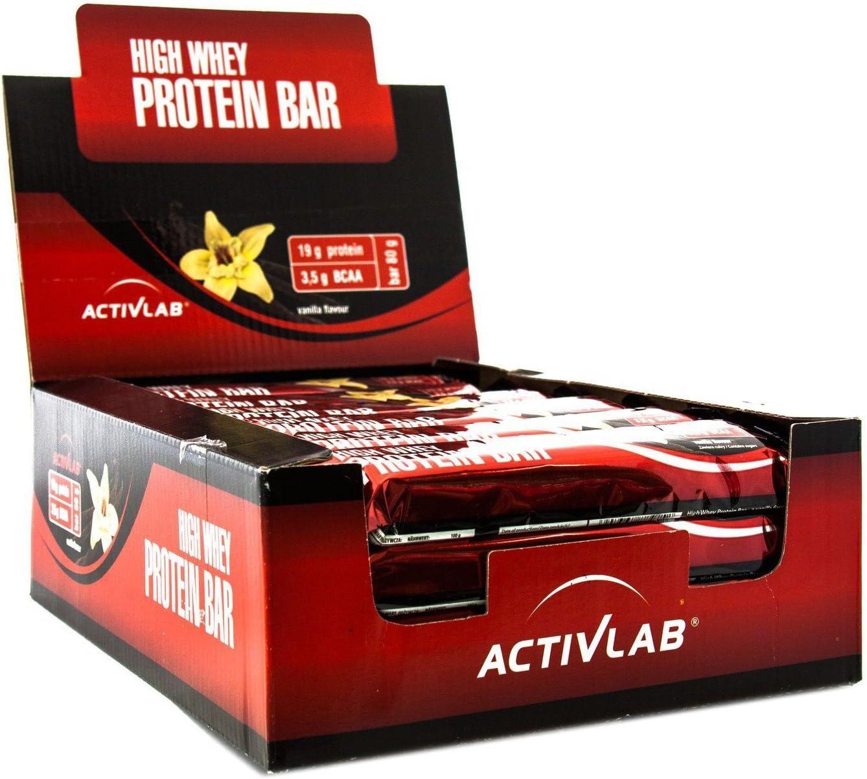 Activlab High Whey Protein Bar Vanilla - 24 Barras: Amazon.es ...
