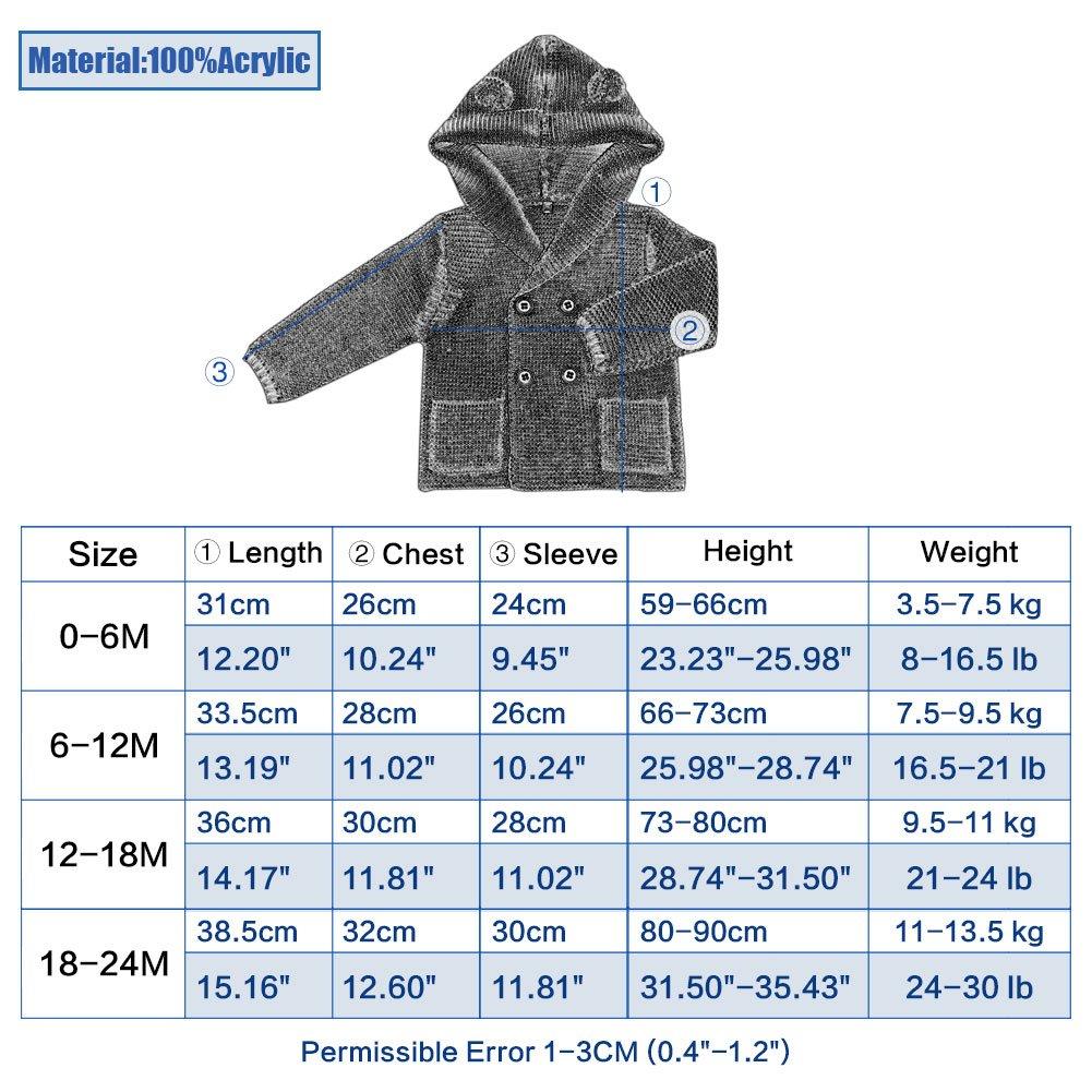 2cfb2a20a5c4 mimixiong Baby Cardigan Sweater Jacket Cartoon Hoodies Long Sleeve ...