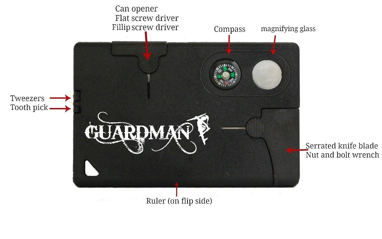 guardman credit card knife tool 10 in 1 camping knife credit card