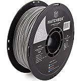 HATCHBOX PLA 3D Printer Filament, Dimensional Accuracy +/- 0.03 mm, 1 kg Spool, 1.75 mm, Gray