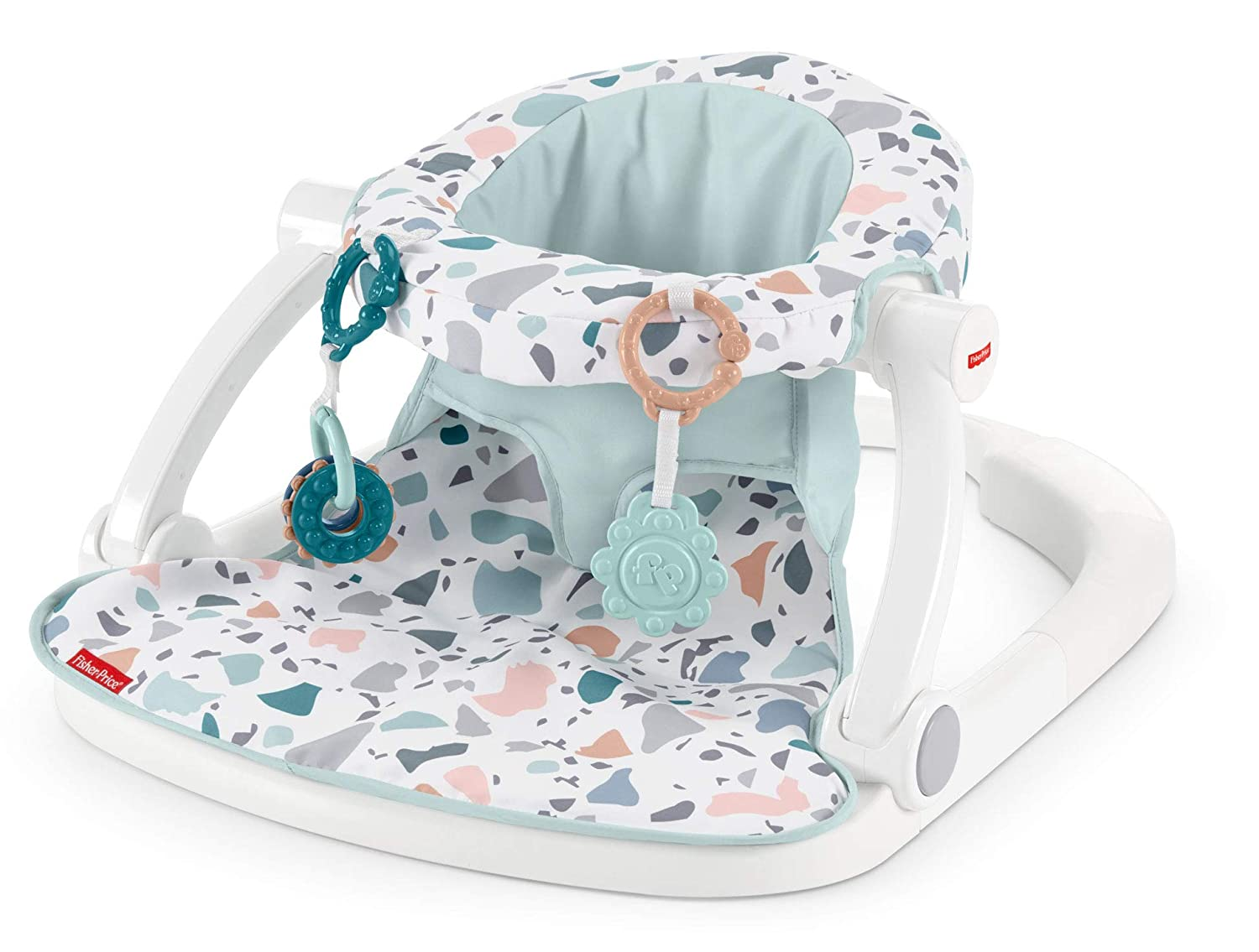 Fisher-Price Sit-Me-Up Floor Seat Blue Geo