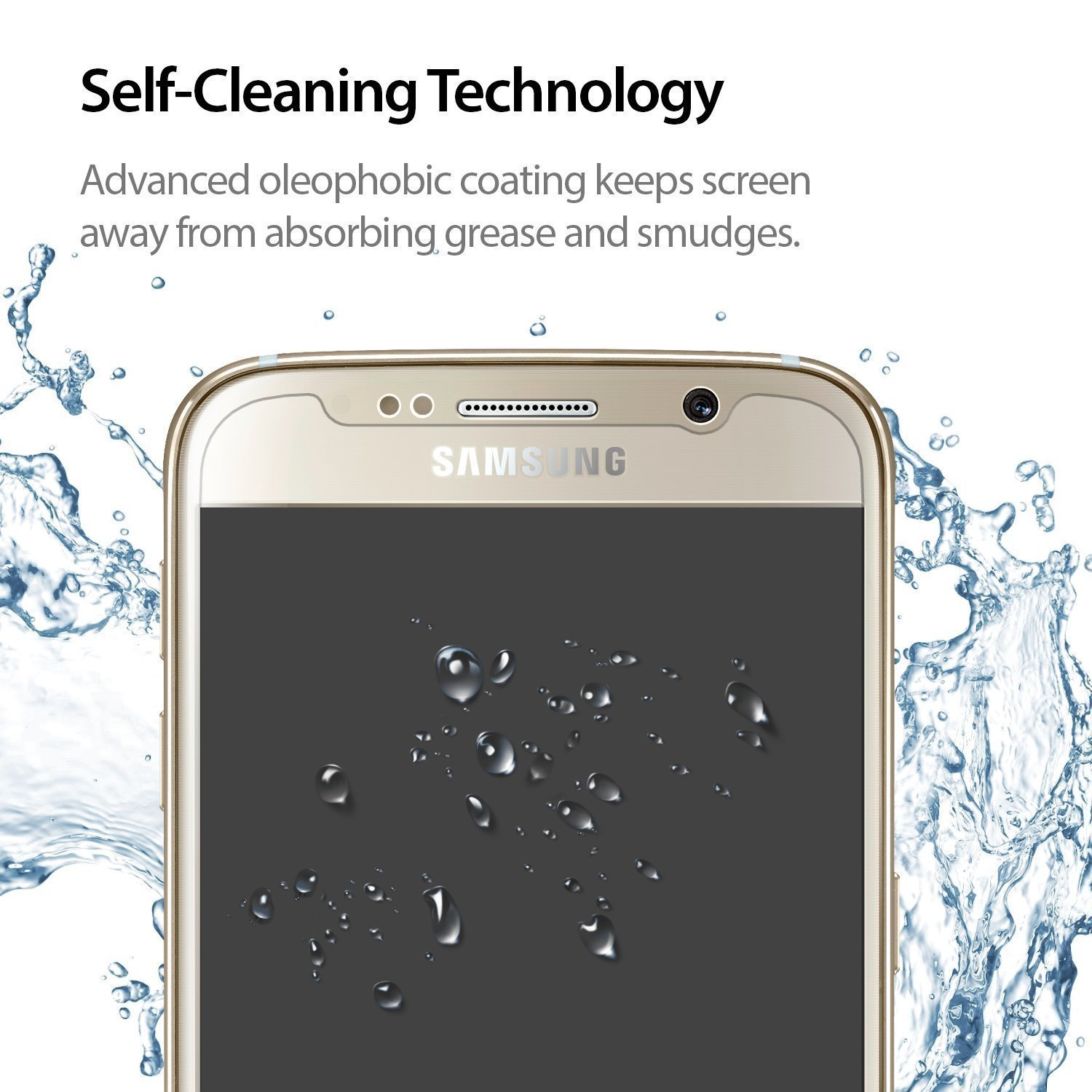 Amazon DEW S Bullet Proof Glass Screen Protector for Samsung Galaxy S5 2 Pack Electronics