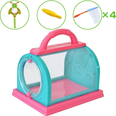 WINGOFFLY 7pcs Insect Bug Adventure Set Insect Cage Butterfly Bug House with Catching Tools Backyard Exploration Kit for Little Critters: Pet Supplies