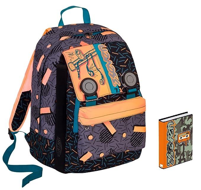56eea8a940 Zaino scuola SEVEN + DIARIO - SWAG BOY - Arancione Nero - estensibile -  VARIANT SYSTEM - 32 LT - elementari e medie inserti rifrangenti: Amazon.it:  Sport e ...
