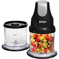 Ninja Professional Stackable Chopper for Fruits and Vegetable with 2 Tritan Jars & 2 Lids - 500 ml, Black
