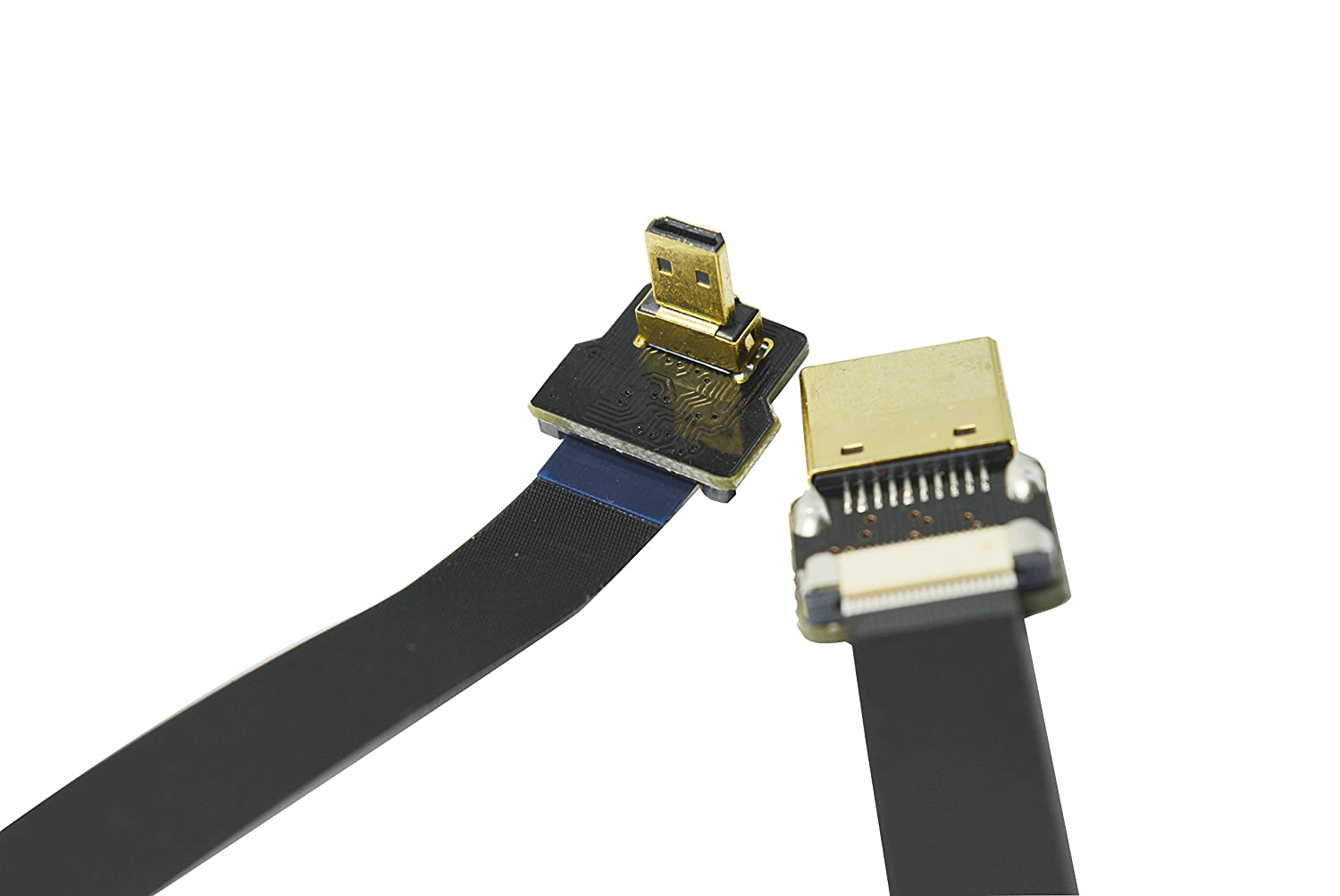 BLACK 20CM FPV HDMI Cable Micro HDMI male 90 degree angle to Standard HDMI full HDMI male Interface for Gopro Sony alpha sony A7RII A7SII A9 A6500 A6300(REVERSE SOCKET OF A6000) PI
