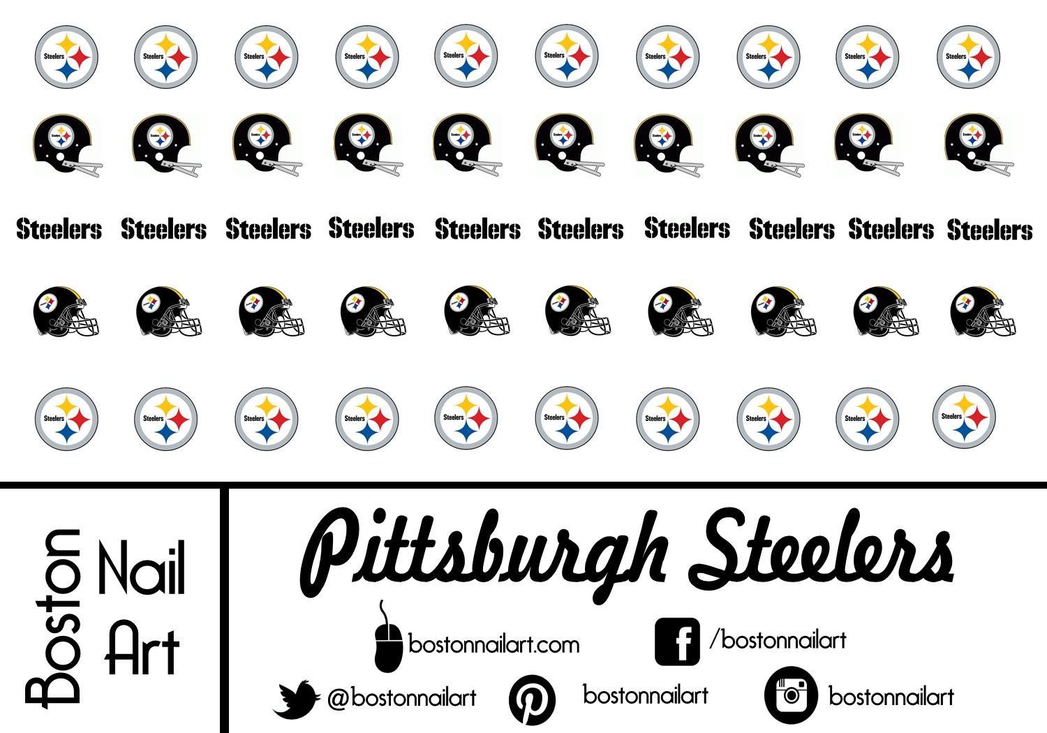 Amazon.com: Pittsburgh Steelers Waterslide nail decals (Tattoos) V1 ...