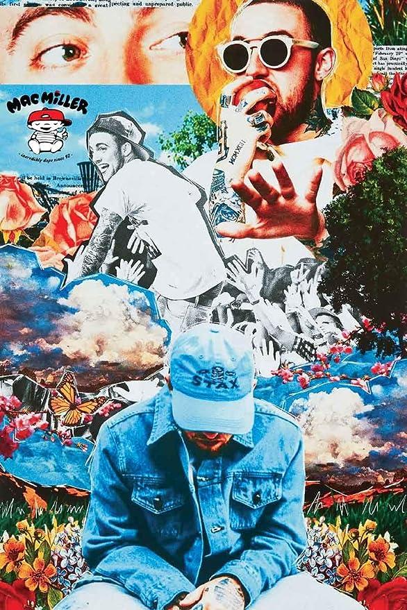Minimalist Rap Poster Mac Miller Inspired Poster v2 Art Print.