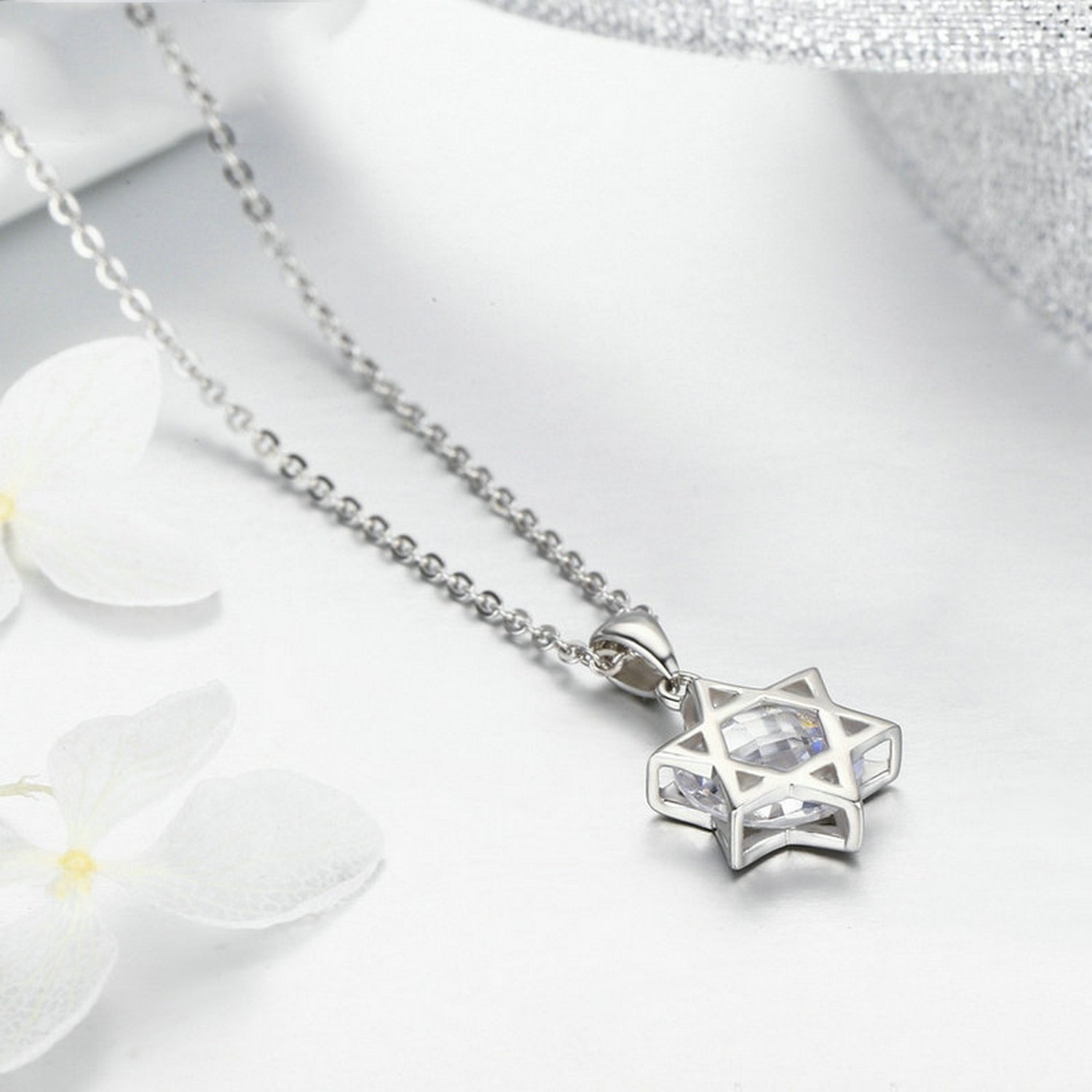 MMC Womens Necklaces Six Star Angle Bridel Pendants