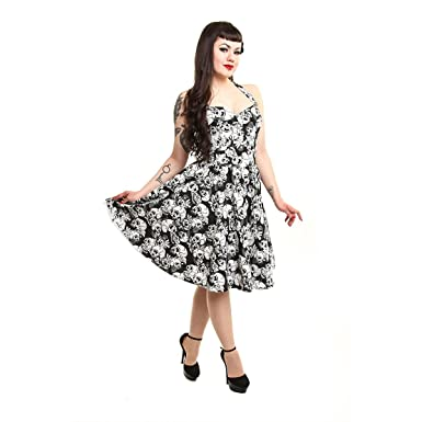 Amazon Rockabella Floral Skull Rose Rockabilly Vintage