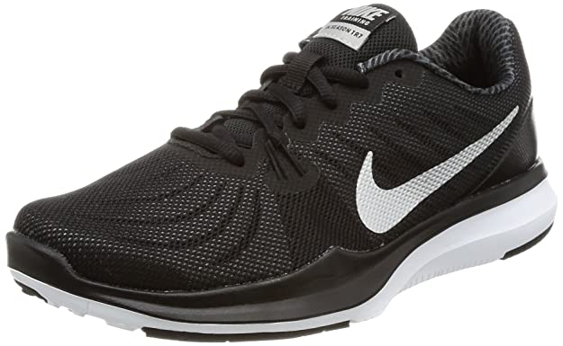 NIKE Women's in-Season 7 Training Shoe Black/Metallic Silver/Anthracite Size 7.5 M US