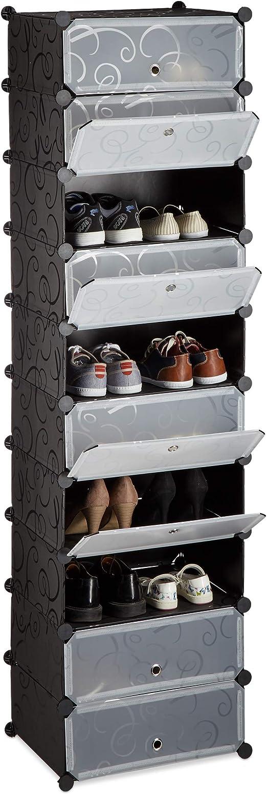 Schuhregale Schuhregal Regal Organizer Metall Home Schuhregal Schuhregal Montage /Ökonomischer Typ platzsparend Wohnzimmer//Eingang//Foyer Schwarz 56 27cm 28