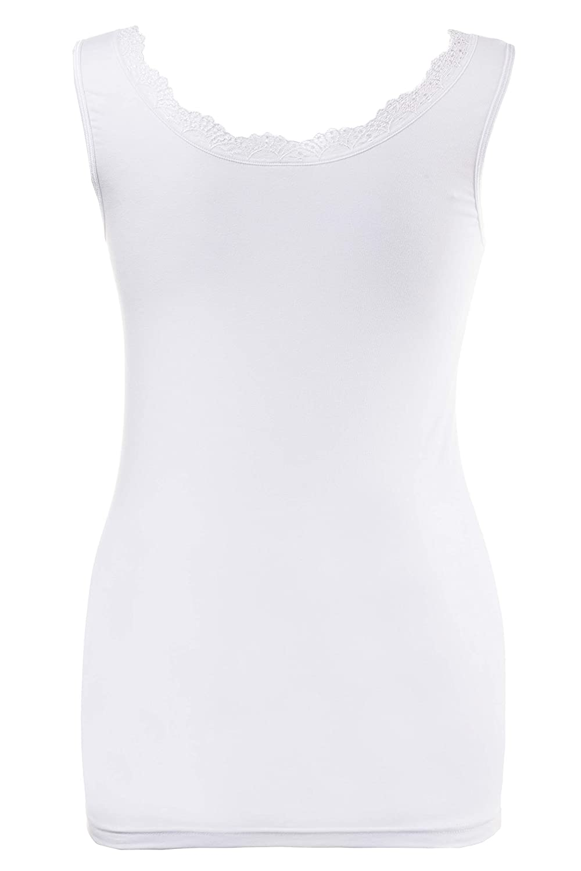 Ulla Popken Womens Unterhemd Spitze Vest