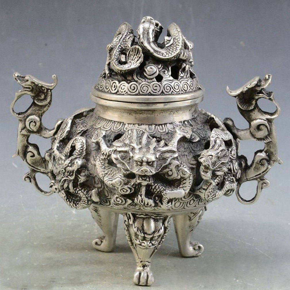 Antique Antique Old Bronze Collection Cuivre Bronze Aromathérapie Fourneau de la Maison Ameublement Décoration Collection