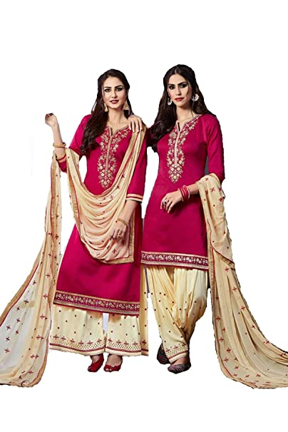 Amazon.com: Queen Bollywood - Traje de patiala pakistaní ...