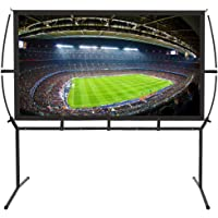 "Portable Projector Screen with Stand, Indoor and Outdoor Movie Screen 16:9 with Wrinkle-Free Design (Easy to Clean, 1.1 Gain, 160° Viewing Angle and Includes a Carry Bag) (100"")"
