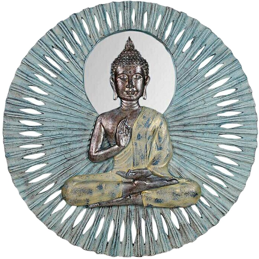 Buddha wall decoration in patinated resin 59 cm by Zen