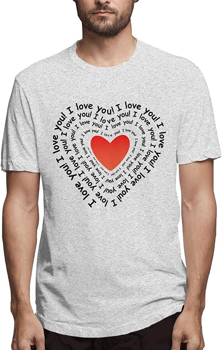 Sudadera con Estampado de Hombre Te Quiero en Forma de corazón Camiseta clásica de Manga Corta Deep Heather: Amazon.es: Ropa y accesorios