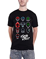 Suicide Squad T Shirt Squad Faces 新しい 公式 メンズ ブラック T Shirt